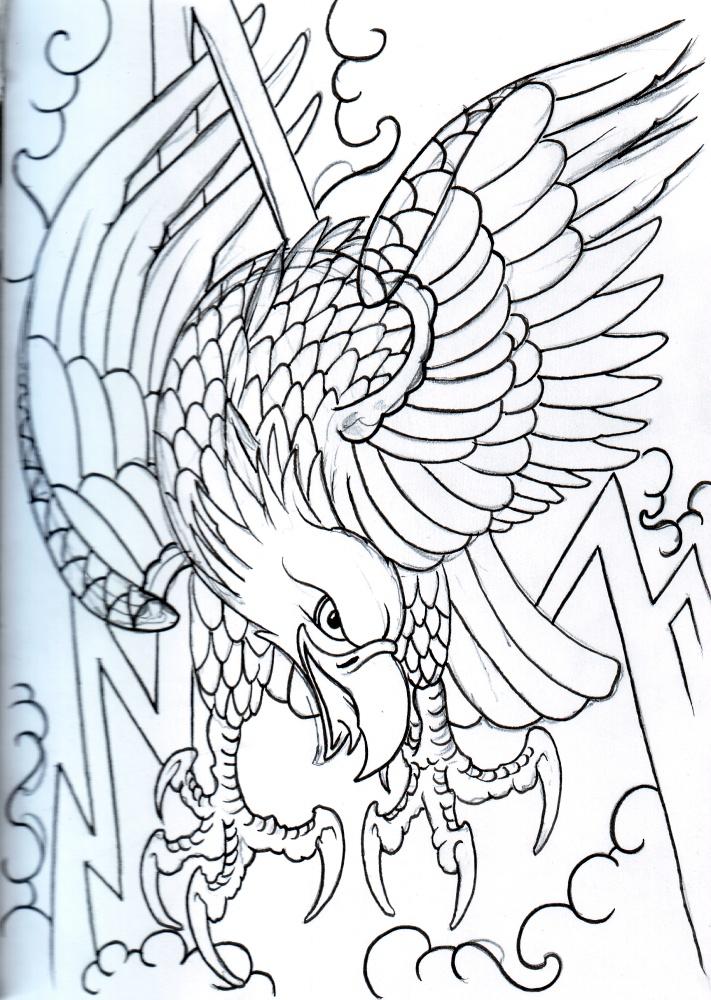 Eagle Outline By Vikingtattoo On Deviantart