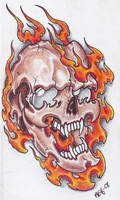 Skull In Flames 2
