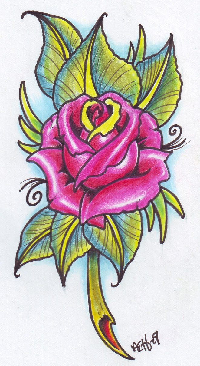 Neo traditional rose 09 by vikingtattoo on deviantart for Neo traditional rose tattoo