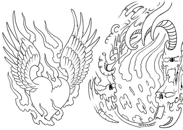 Tattoo Flash Sheet Outline by ~vikingtattoo on deviantART