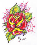 Neo traditional Rose Tattoo 2