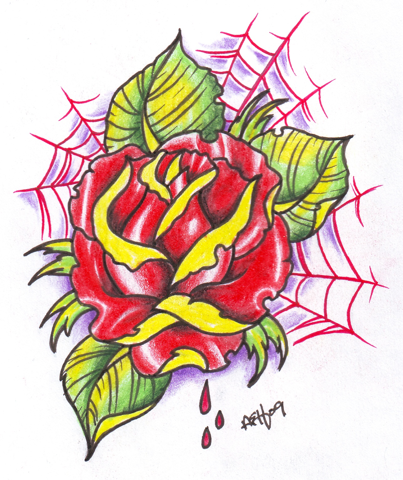 Pin Neo Traditional Rose Outline By Vikingtattoojpg on ...