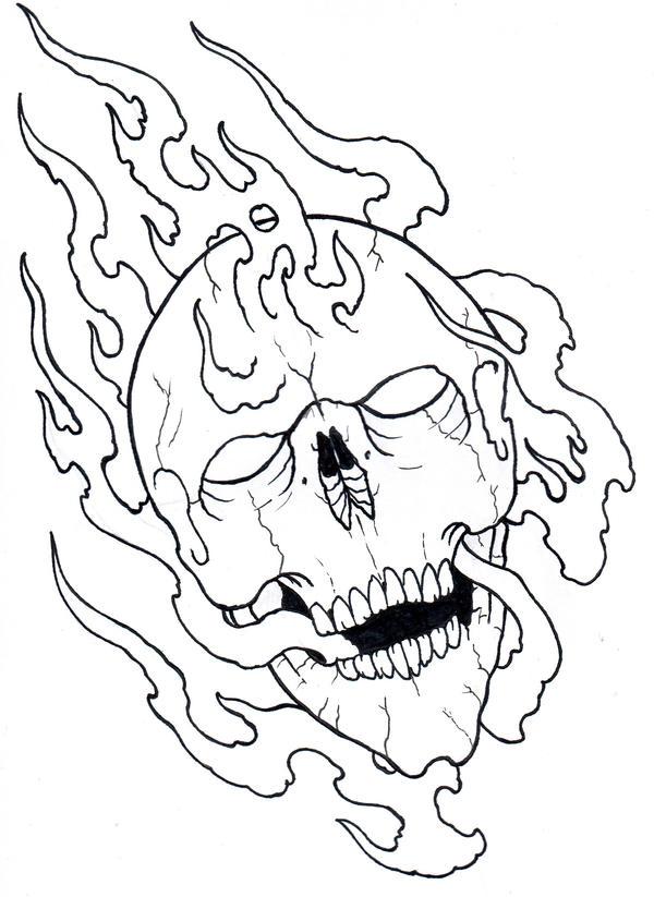 Skull Tattoo Outlines