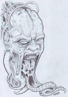 Biomech Demon by vikingtattoo