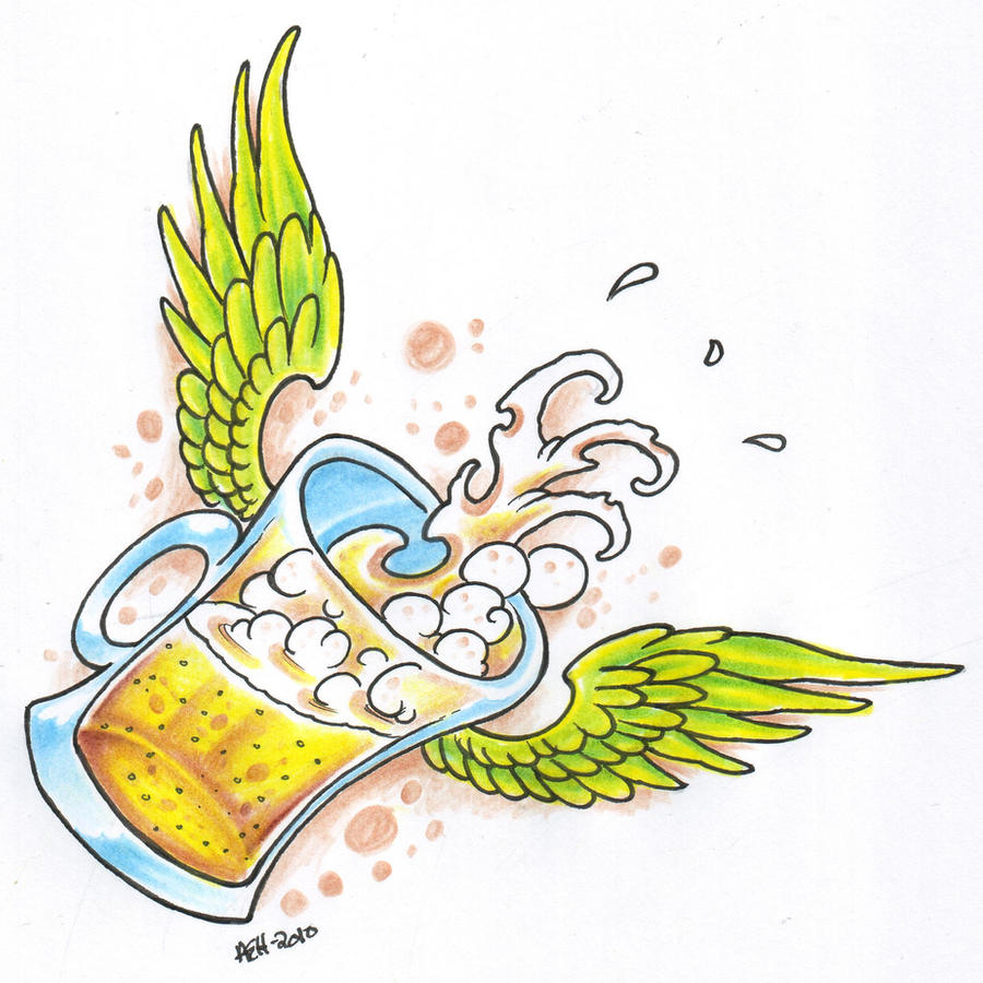winged beer stein tattoo by vikingtattoo on deviantart. Black Bedroom Furniture Sets. Home Design Ideas