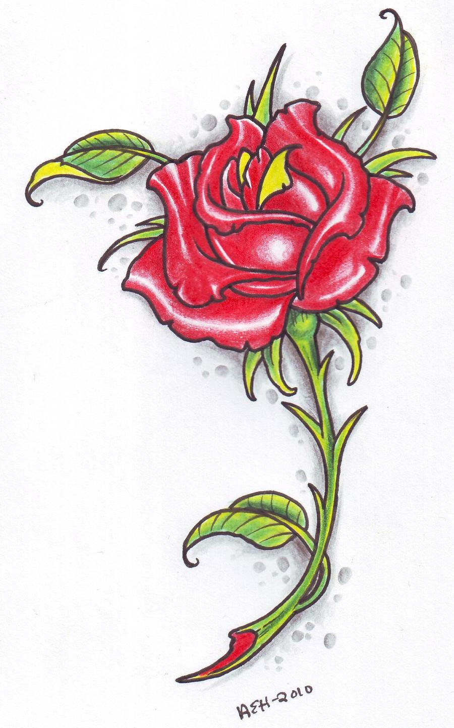 Rose tattoo design 2010 by vikingtattoo on deviantart for Free rose tattoo stencils