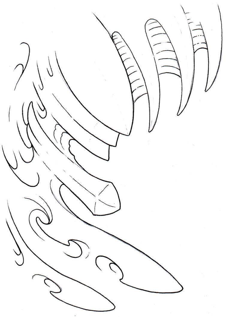 Biomechanical Tattoo Line Drawing : Biomechanical outline by vikingtattoo on deviantart