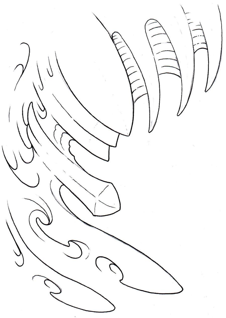 Biomechanical Tattoo Line Drawing : Biomechanical outline by vikingtattoo on deviantart