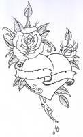 RoseHeart Outline 1