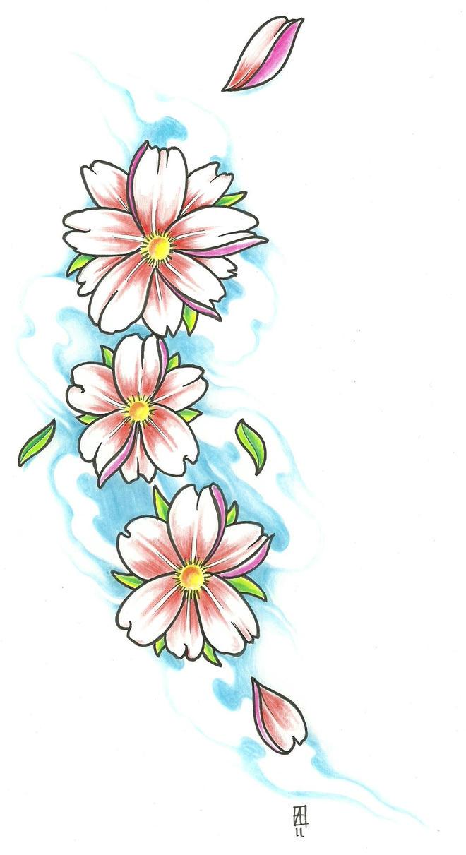 Cherry Blossom Tattoo Drawings
