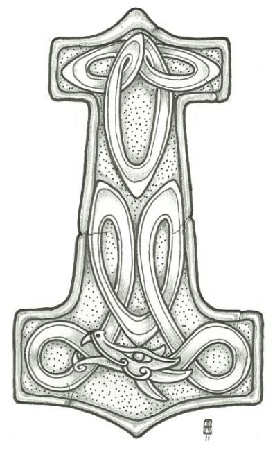 mjolnir tattoo 1 by vikingtattoo on deviantart. Black Bedroom Furniture Sets. Home Design Ideas
