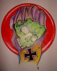 Purple Hood Skull