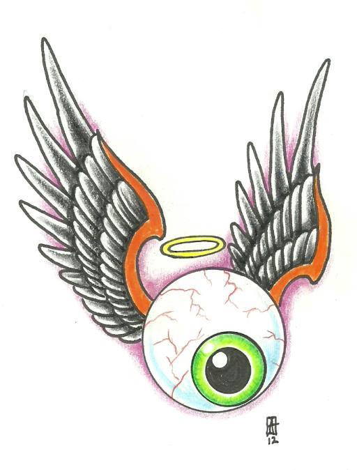 Flying Eye by vikingtattoo on DeviantArt