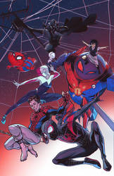 Into the Spiderverse (collaboration piece) by mikabear1