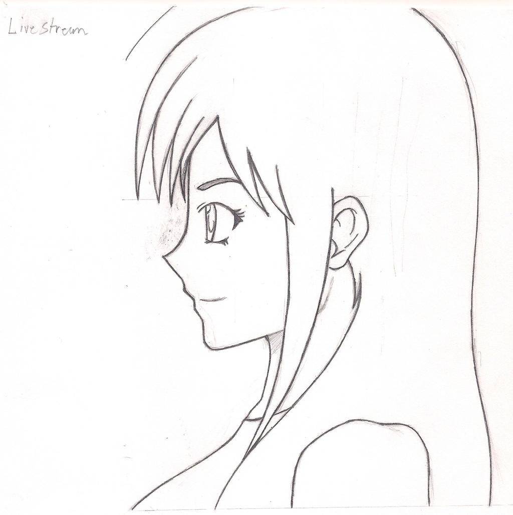 side view anime/manga girl by TSURAKUUNAI on DeviantArt