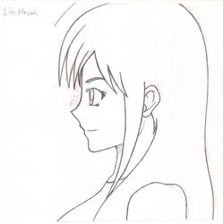 side view anime/manga girl