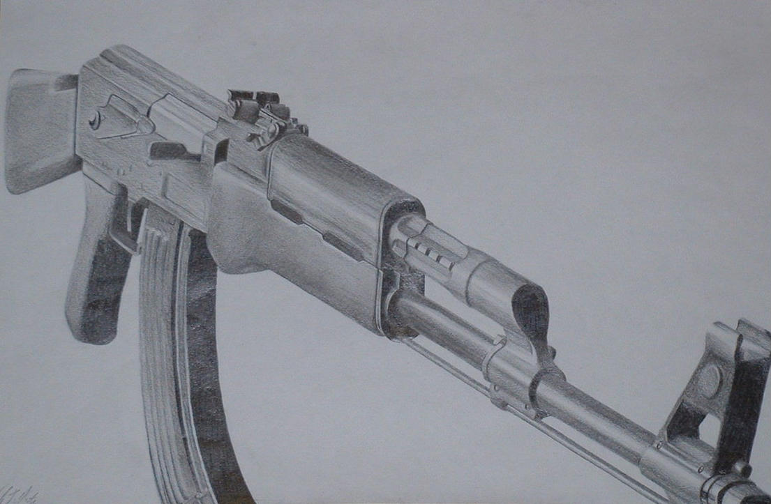 This is a graphic of Satisfactory Drawing Of Ak 47