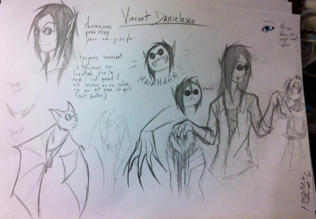 Vincent Danielesco ( sketches ) by KangooNoh
