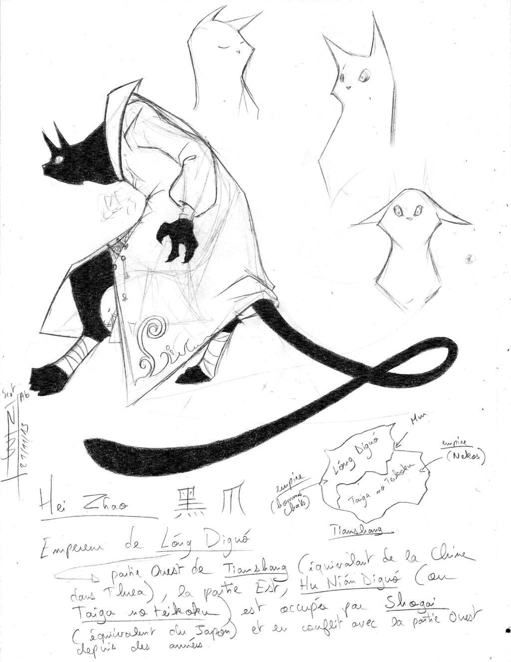 Hei Zhao - sketches by KangooNoh