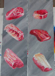 Meat Painting by julio-lupin-jr
