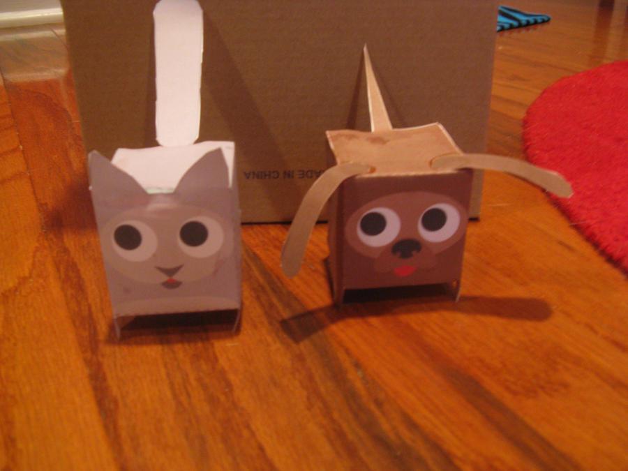 creepy cat and dog papercraft by Ryuuzaki3137 on DeviantArt