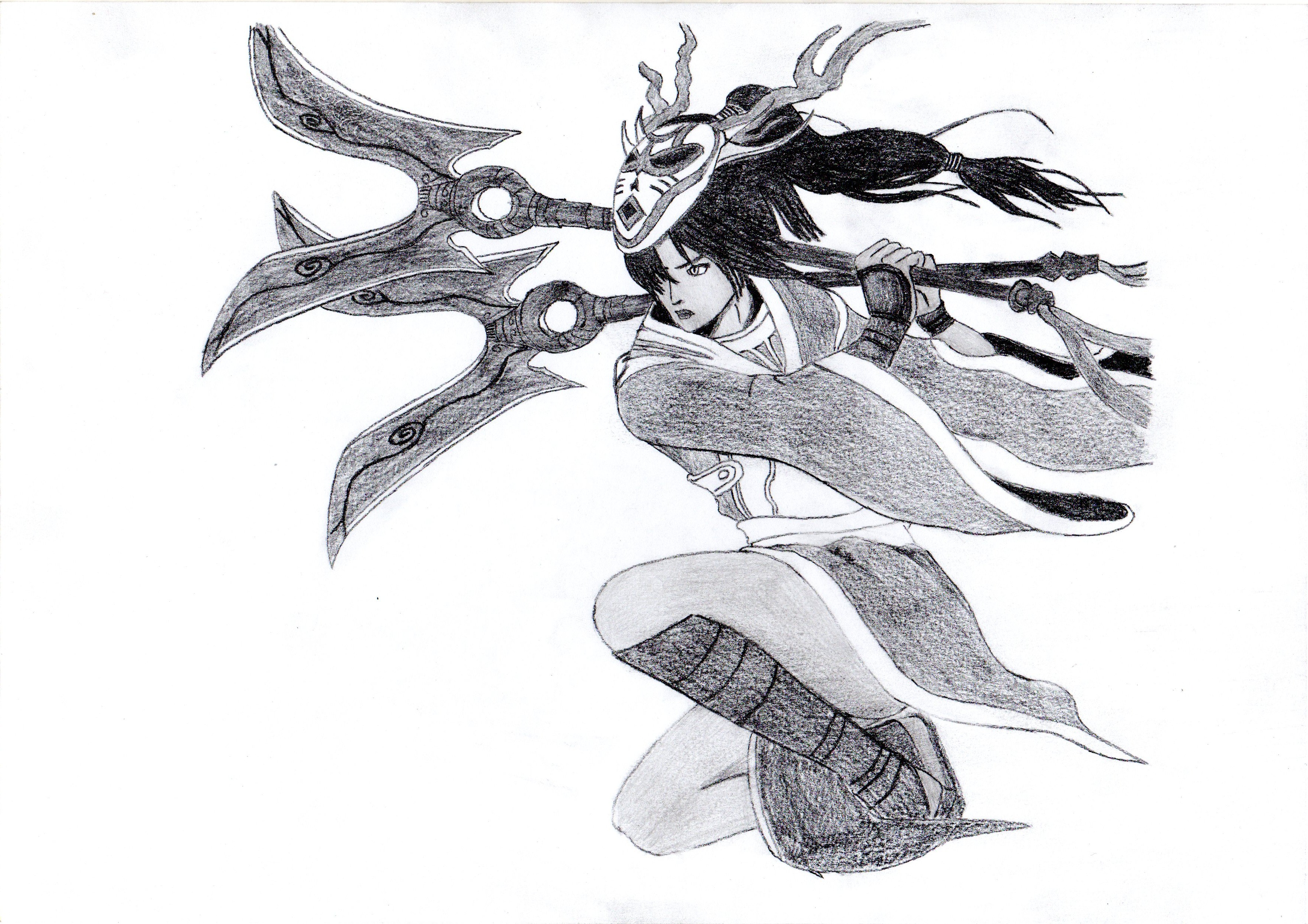 Line Art Xl 2012 : Akali the fist of shadow blood moon edition by origamisxl on