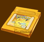 Pokemon Yellow Painting by LittleWoodlouse