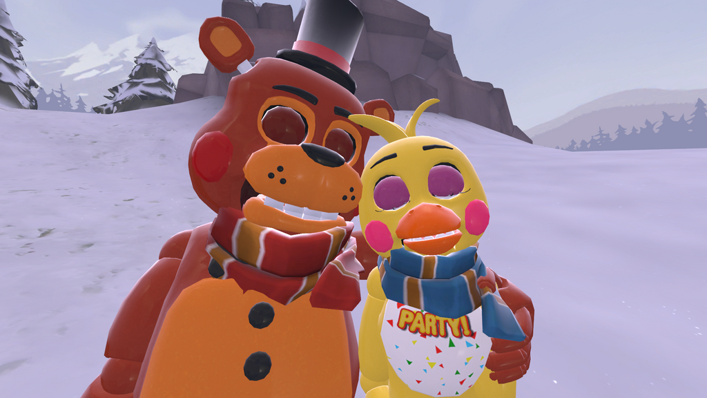Snowy day toy freddy x toy chica by angrymordreturns on deviantart
