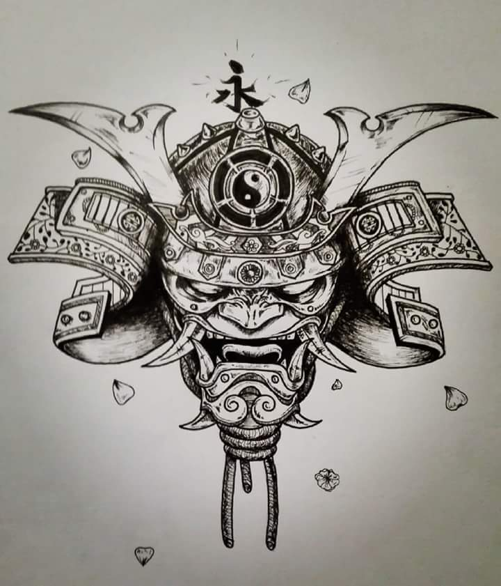 Oni Samurai Tattoo Drawing By Alberik