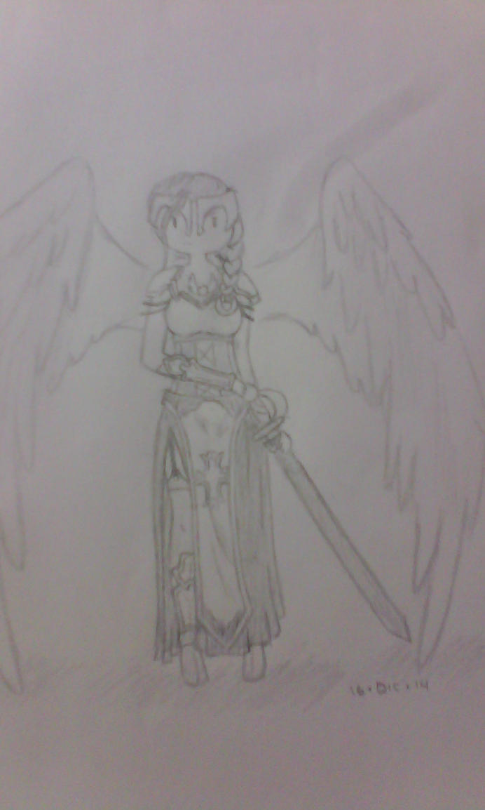 Female Archangel by LilPeaceMaker