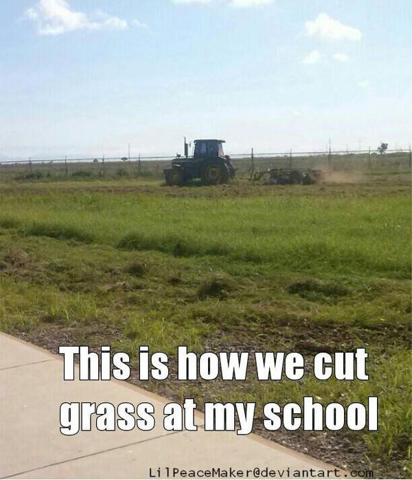 Cutting Grass by LilPeaceMaker