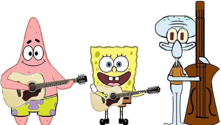 spongebob patrick squidward 2 by whiteartwork on deviantart