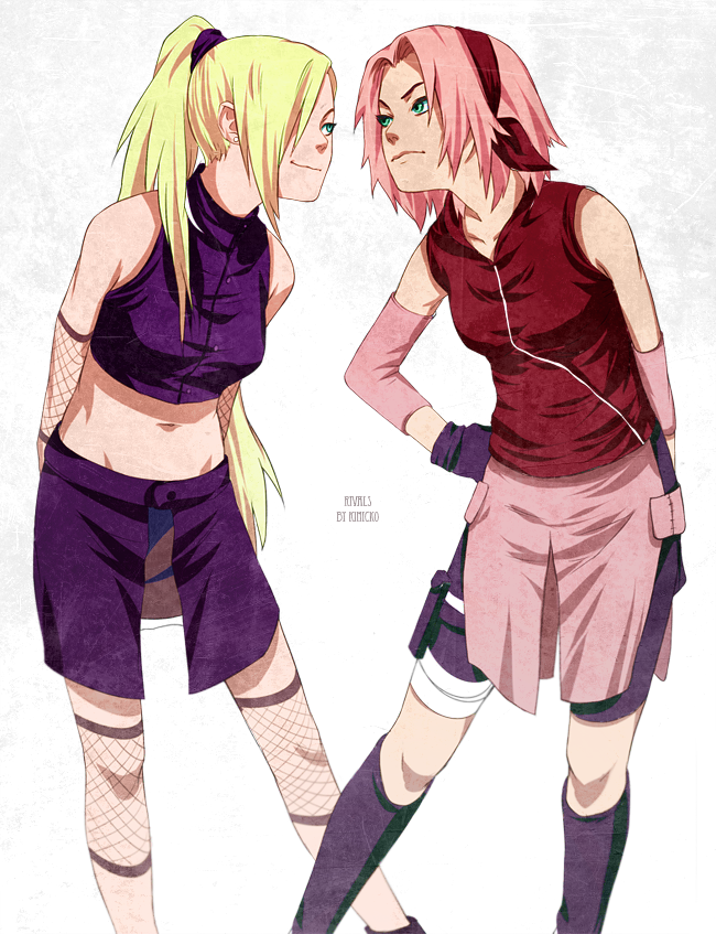 Sakura and Ino by Kinicko