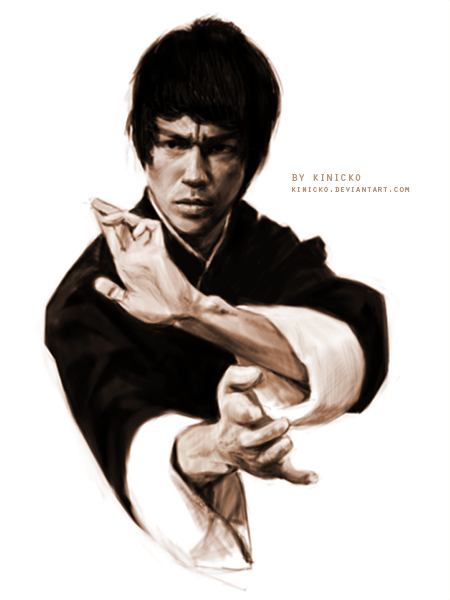 Bruce Lee by Kinicko