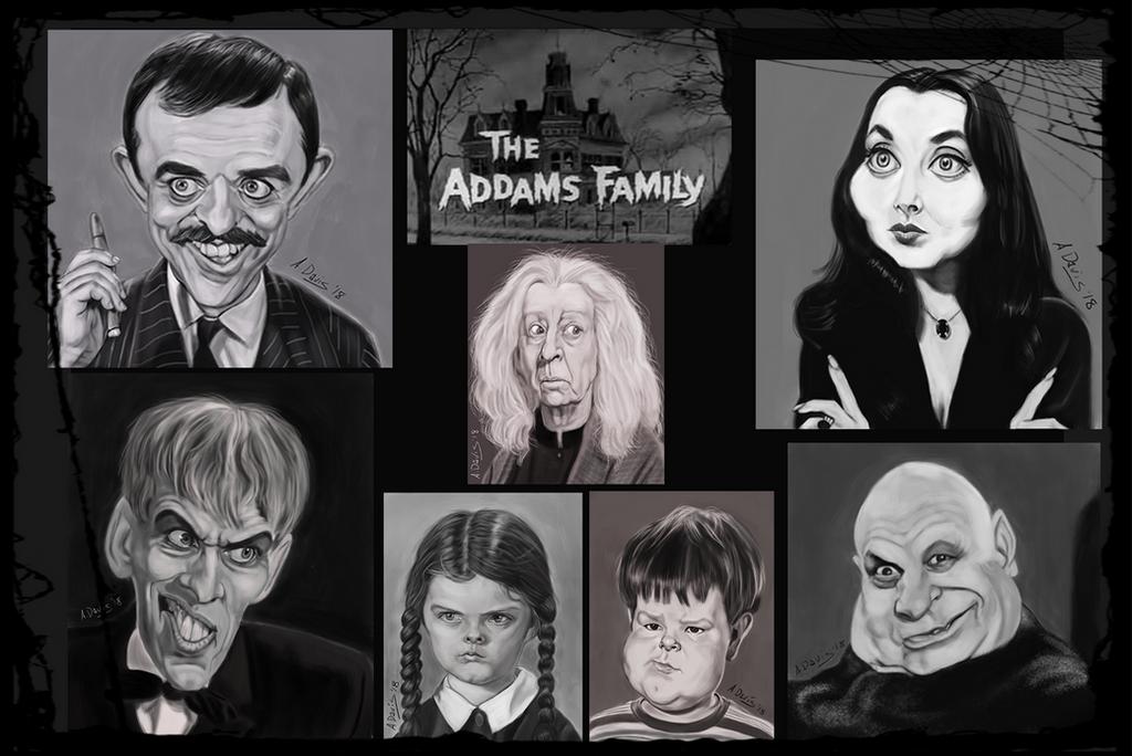 Addams Family Portrait by adavis57