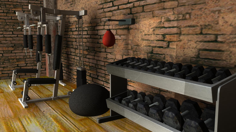 D boxing gym by chlize on deviantart