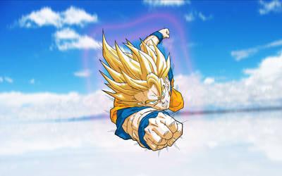 Goku SS Wide 1680x1050 by DanielGoettig