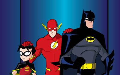 Batman and Robin... and Flash by DanielGoettig