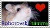 Roborovski hamster stamp by Wildeye