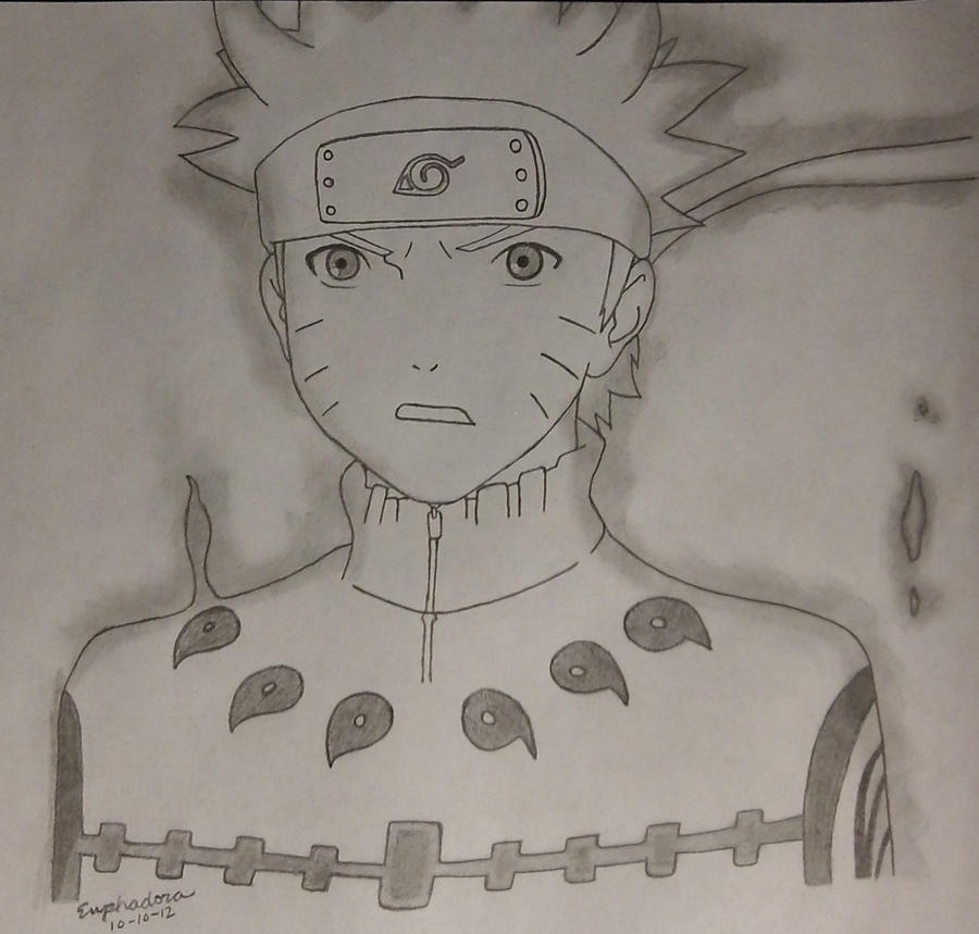 Naruto: Nine Tails Chakra Mode by Euphadora