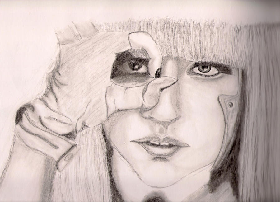 lady gaga poker face wallpaper. Lady GaGa Poker Face Portrait