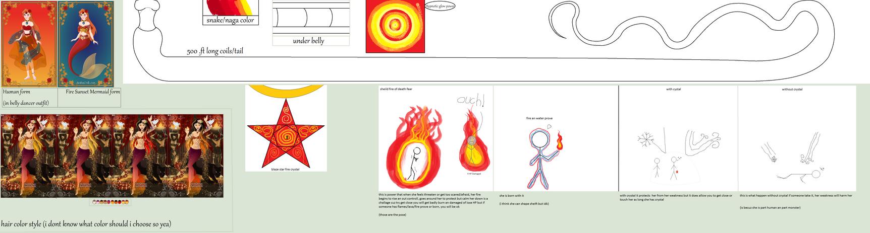 Calida Blaze Amber The Fire Girl by starryfan