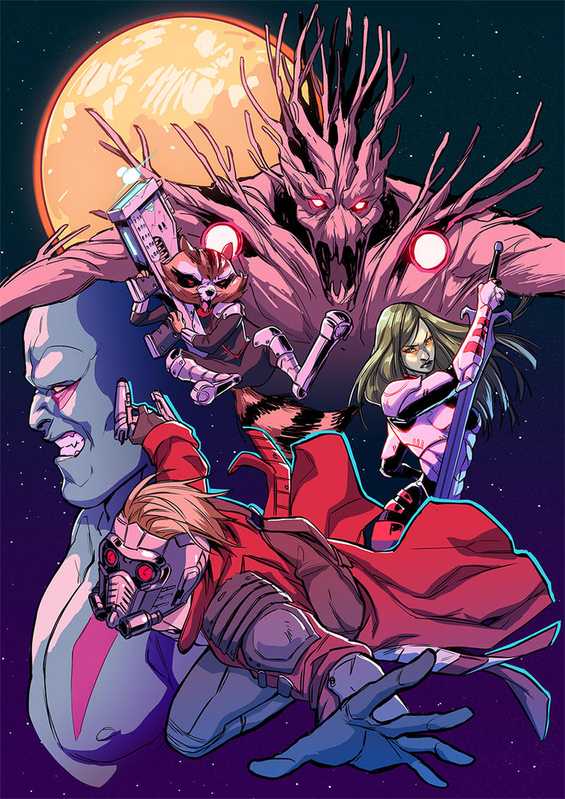 _GuardiansOfTheGalaxy_ by SerLuxfero