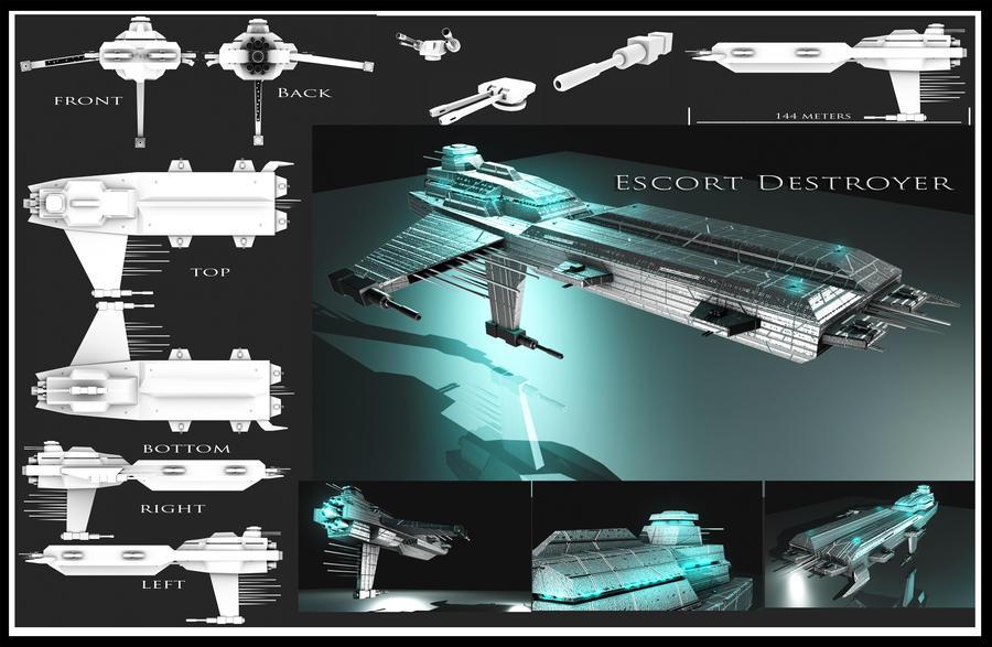 Escort Destroyer by Davis--237834