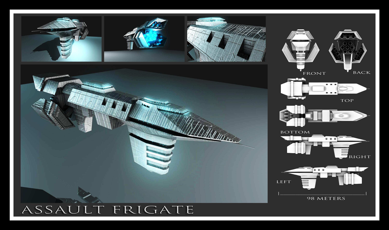 Assault Frigate by Davis--237834