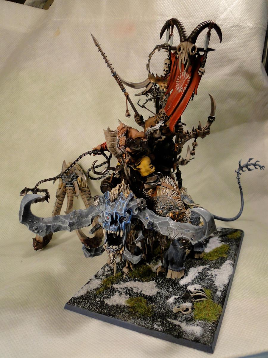 Ogre Kingdom Thundertusk slash Stonehorn by badbunnyDEVI