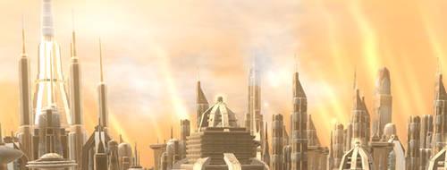 Palace District Skyline by Cyrannian