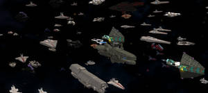 Spore: Gigaquadrantic fleet