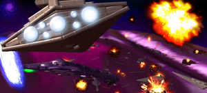 Spore: Galactic Empire versus the Covenant by Cyrannian