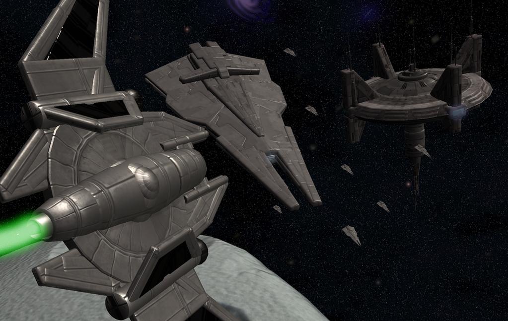 Spore approaching the fleet by cyrannian on deviantart - Spore galactic adventures wallpaper ...